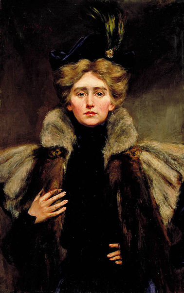 Natalie in Fur Cape by Alice Pike Barney