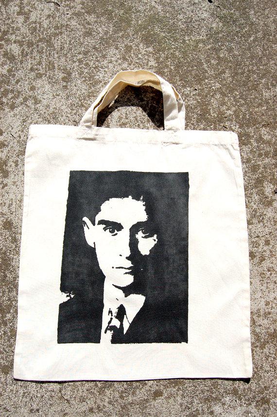 Franz Kafka Tote Bag by Little Shop of Joy
