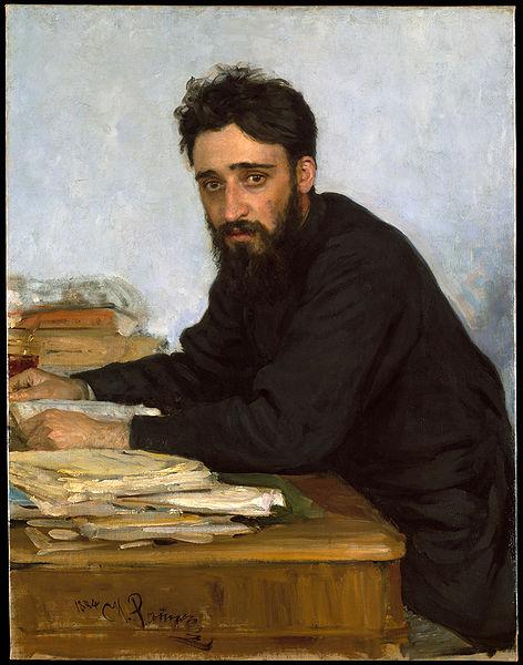 Vsevolod Garshin by Ilya Repin