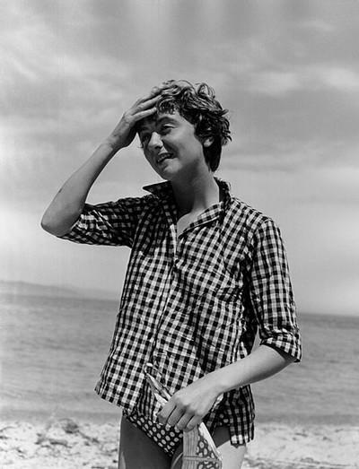 Francoise Sagan by Jeanloup Sieff. St. Tropez, 1956.