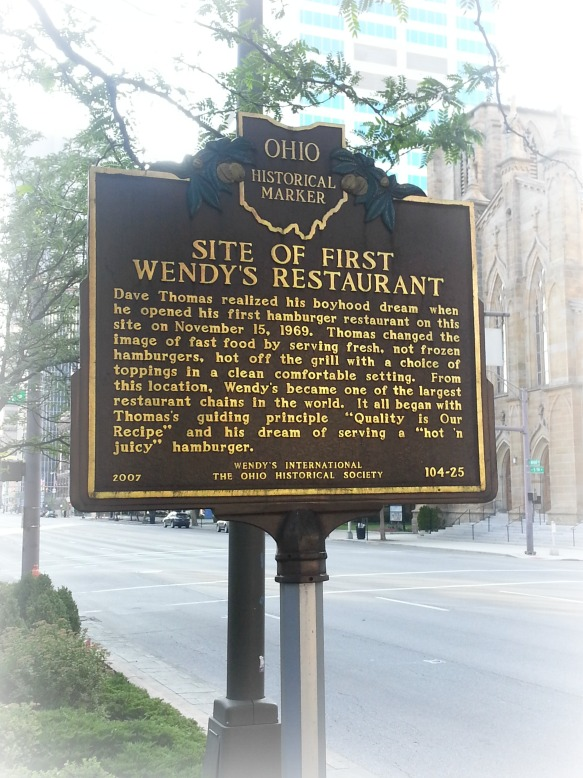 Wendy's historical marker.