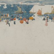 Beach Scene with Boats by Maurice Prendergast