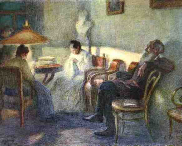 Under a Lamp by Leonid Pasternak, 1902