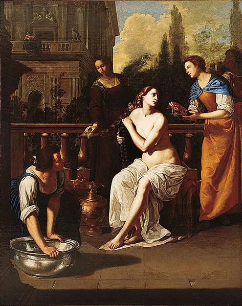Bathsheba, by Artemisia Gentileschi. Circa 1636.