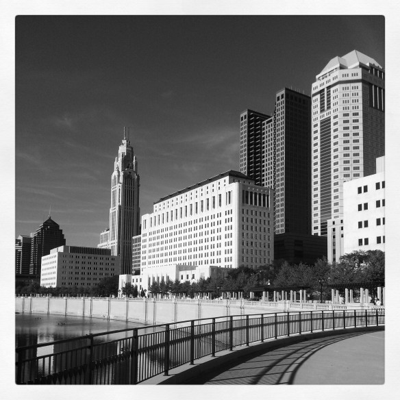 Partial view of the Columbus skyline. September 2013.