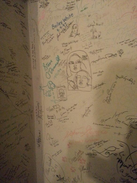 The Graffiti Closet in James Thurber's Bedroom.