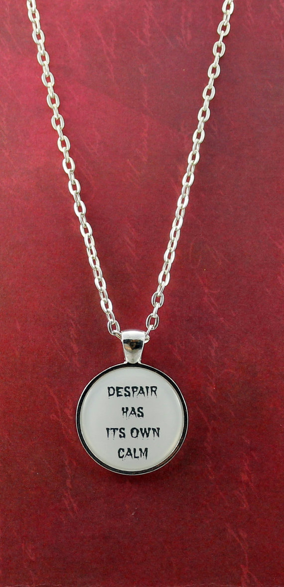 Dracula Quote Pendant by Shakespeare's Sisters