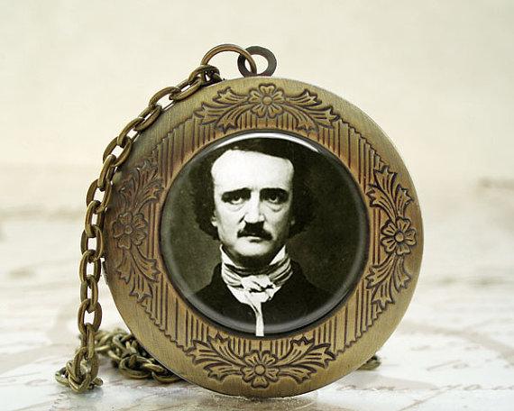 Edgar Allan Poe Locket with Necklace by Twenty Six 7