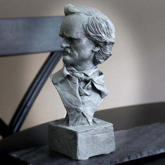 Edgar Allan Poe Sculptural Bust by Tartamella