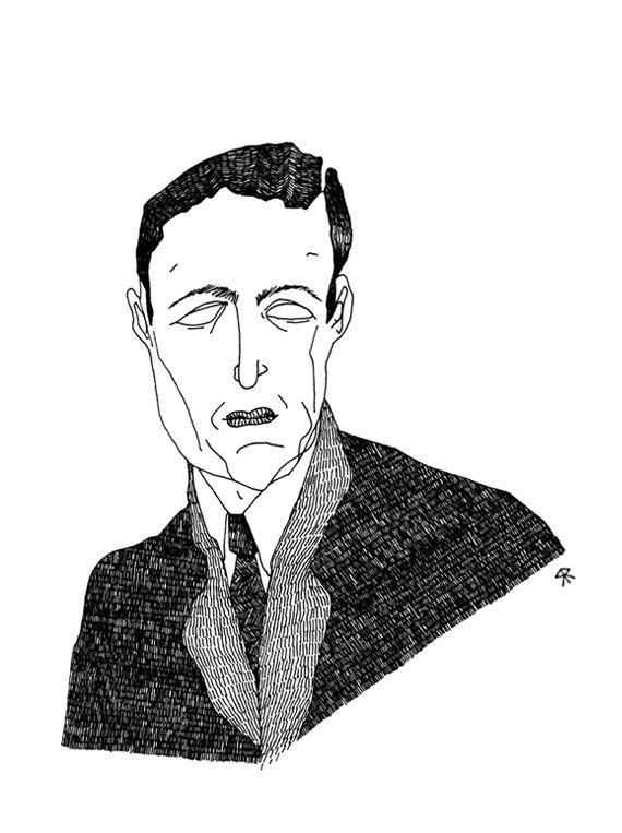 H.P. Lovecraft Print by sparganum