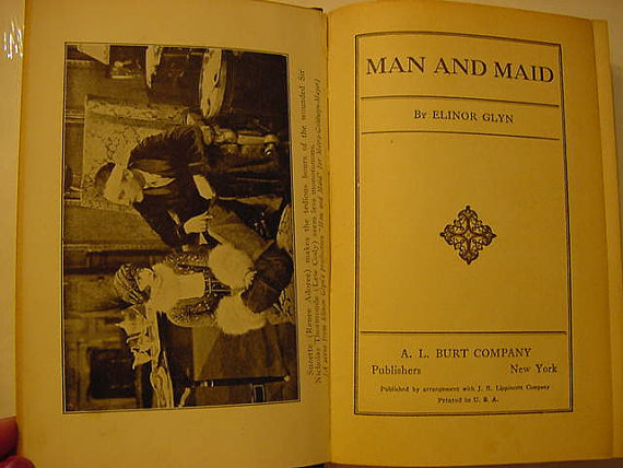 Elinor Glyn's Man and Maid Movie Still Book at Backwoods Treasure