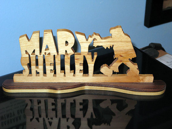 Mary Shelley Desktop Sign by Real Wood Crafts