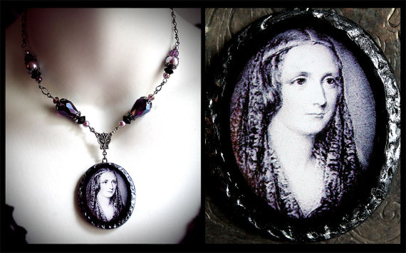 Mary Shelley Pendant by Roseblood and Mothdust