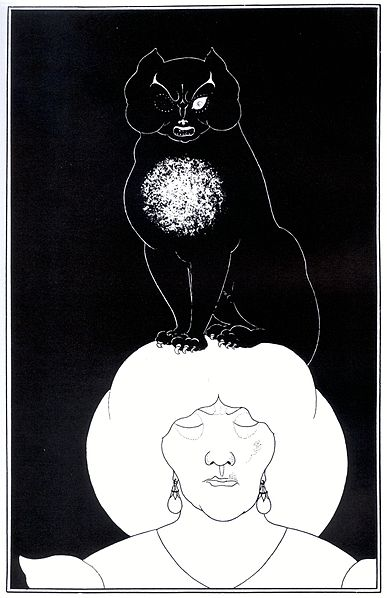 The Black Cat by Aubrey Beardsley, 1894-1895
