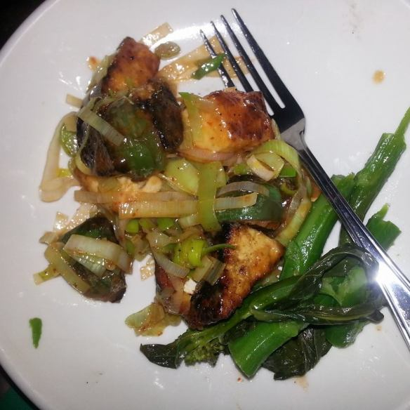 Dinner in: Tofu stir fry