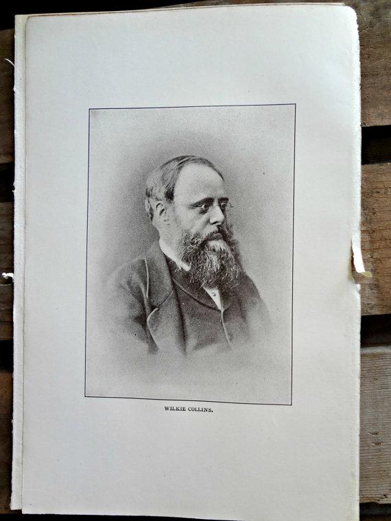 Wilkie Collins Portrait at EKR Doodle Vintage
