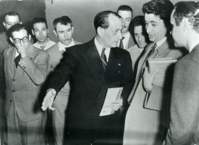 André Malraux, center