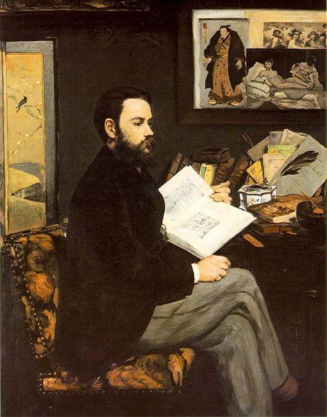 Émile Zola by Édouard Manet, 1868