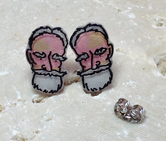 George Bernard Shaw Earrings by Wendy Ferguson Designs