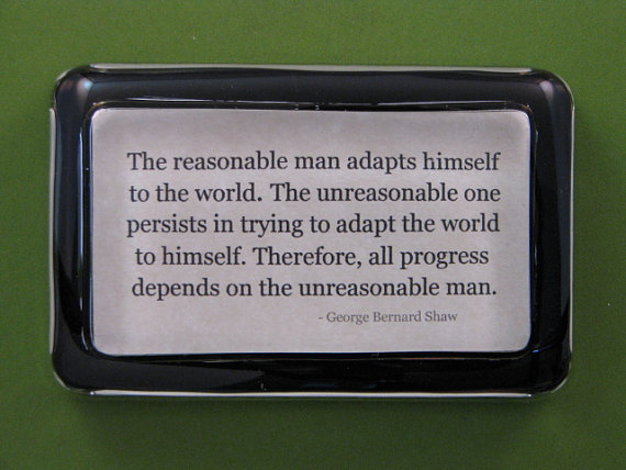 George Bernard Shaw Quote Paperweight by Bixler and Johnson