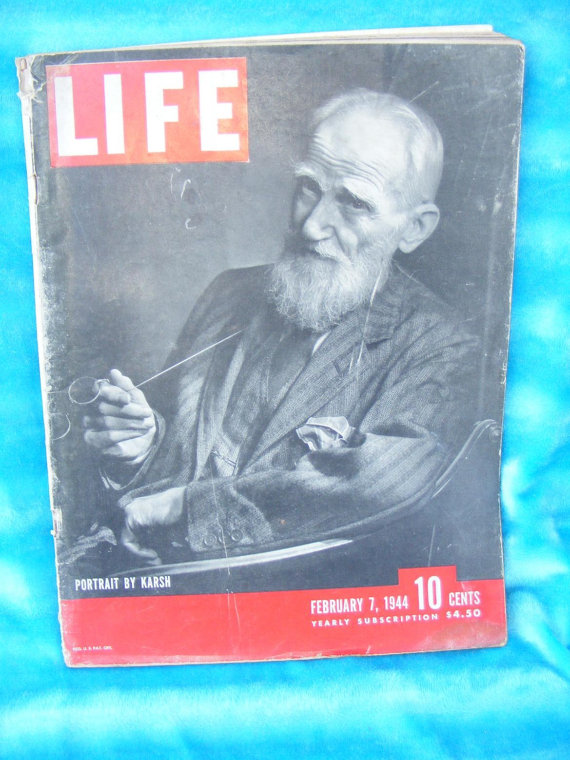 LIFE Magazine Cover with George Bernard Shaw at Covenants