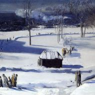 Blue Snow, the Battery by George Bellows, December 1910