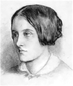 Christina Rossetti, portrait by her brother