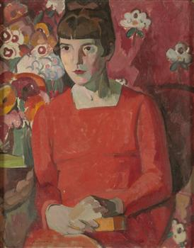 Katherine Mansfield by Anne Estelle Rice, 1918