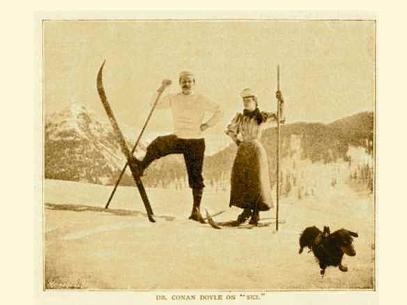 Sir Arthur Conan Doyle enjoying a ski holiday