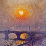 Sunset over Waterloo Bridge by Emile Claus