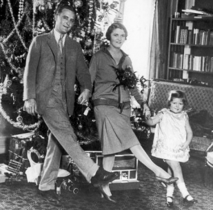 The Fitzgerald Family Celebrating Christmas