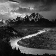 The Tetons and the Snake River by Ansel Adams, 1942