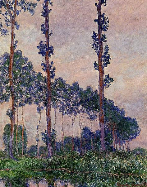 Three Trees in Grey Weather by Claude Monet, 1891