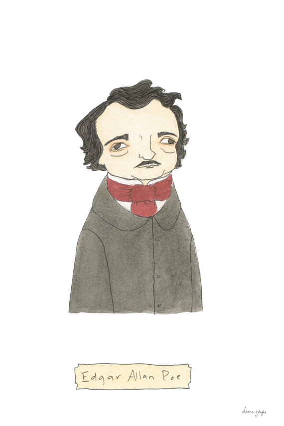 Edgar Allan Poe Print by Terrific Friends