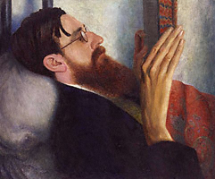 Lytton Strachey by Dora Carrington