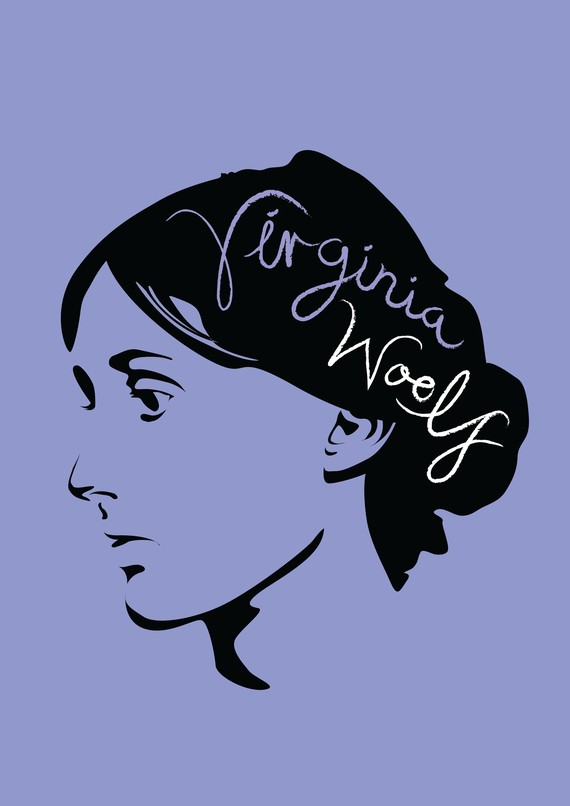 Virginia Woolf Print by Lucy Loves This