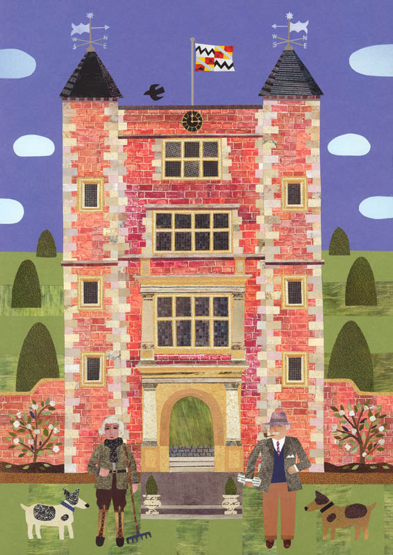 Vita Sackville-West and Harold Nicolson Greeting Card by Amanda White