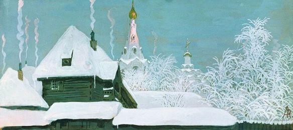 Winter Morning by Andrei Ryabushkin, 1903