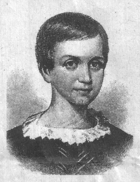 A drawing of Emily Dickinson, at around age nine