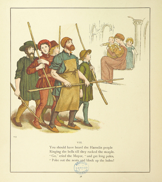 From the Pied Piper of Hamelin Illustrated by Kate Greenaway, 1889