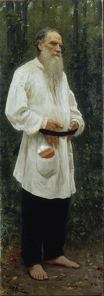 Leo Tolstoy Barefoot by Ilya Repin, 1901