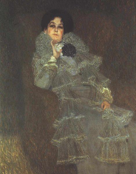 Marie Hennenberg by Gustav Klimt