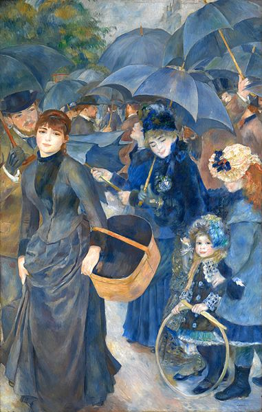 The Umbrellas by Pierre-Auguste Renoir, circa 1881-1886