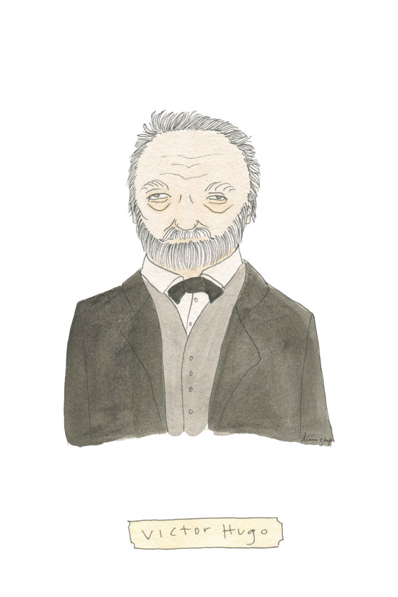 Victor Hugo Print by TerrificFriends