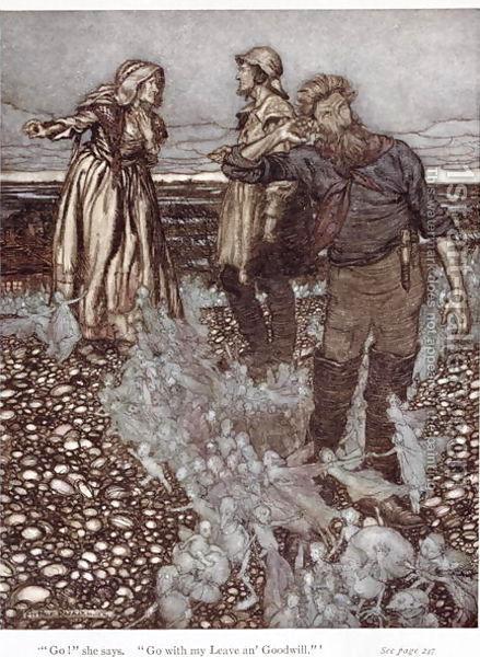 Illustration for Rudyard Kipling's Puck of Pook's Hill, 1906