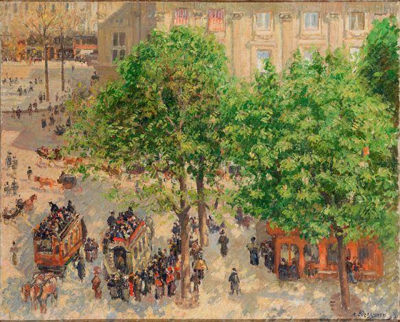 Place du Theatre-Francais, Spring by Camille Pissarro, 1898
