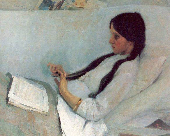 Elizaveta Martynova by F. Malyavin, 1897