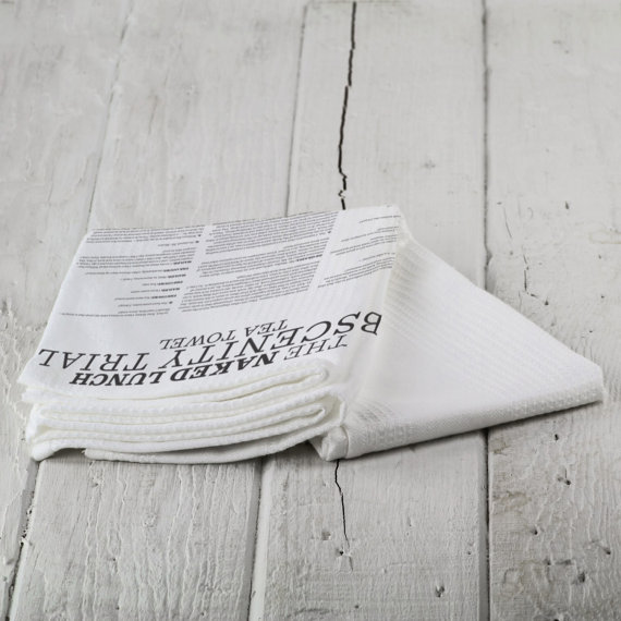 Naked Lunch Obscenity Tea Towel by Nova Home Supplies