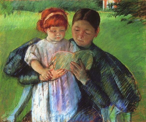 Nurse Reading to a Little Girl by Mary Cassatt, 1895