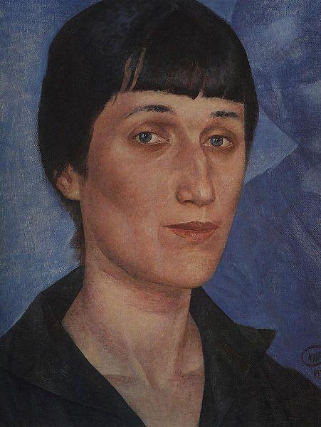 Portrait of Anna Akhmatova, 1922 by Kuzma Petrov-Vodkin